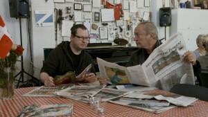 """Lars von Trier und Udo Kier in """"Arteholic""""."""